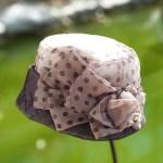 루이엘 <b><오브-시스루 도트패턴></b> 가벼운모자 또끄 비니 베레 챙없는모자 외출용모자 정장모자 여성정장 선물용 실크모자