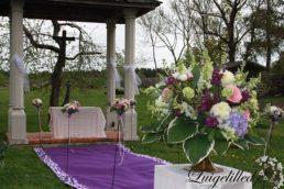 Altari dekoratsioonid, lilleseaded, pulmadekoratsioonid Laitse Graniitvillas, registreerimine Laitse graniitvillas