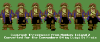 Guybrush Threepwood converted for the Commodore 64