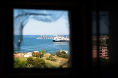 Veduta del porto industriale.