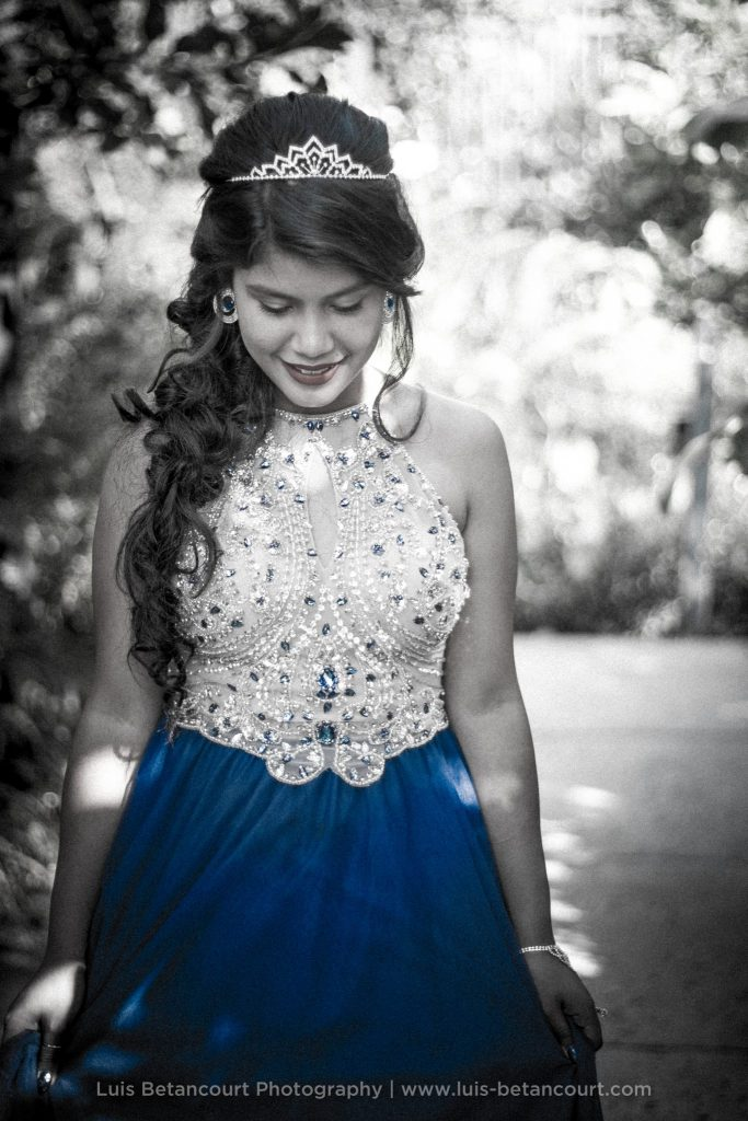 Quinceanera Photography. Black and White. Lakeland FL.