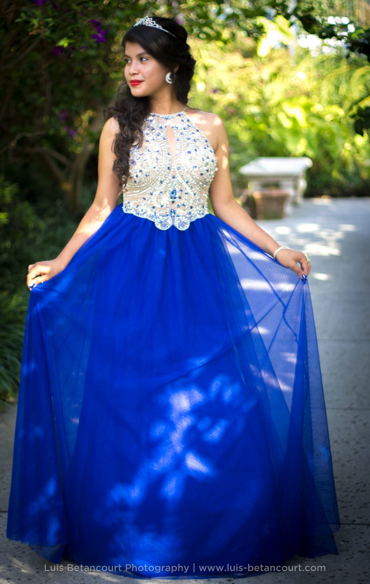 Quinceanera Photography in Lakeland, Tiara. Dress