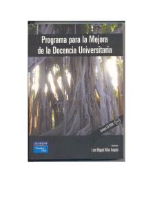 PROGRAMA PARA LA MEJORA DE LA DOCENCIA UNIVERSITARIA