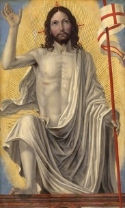 "The Resurrection is depicted in ""Christ Risen from the Tomb,"" a painting by Italian Renaissance artist Bergognone. The artwork is from the Samuel H. Kress Collection at the National Gallery of Art in Washington. Easter, the feast of the Resurrection, is April 8 in the Latin-rite church this year. (CNS photo/courtesy of the National Gallery of Art) (March 27, 2012)"