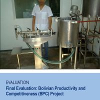Final Evaluation: Bolivian Productivity and Competitiveness Project