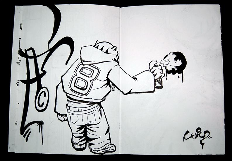 """Bombing"" sketch"