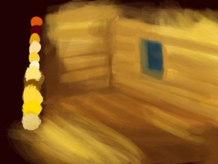 Color study in Procreate, a iPad app for digital drawing and painting.