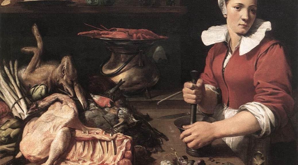SNYDERS, Frans Cook with Food 1630s Oil on canvas, 88,5 x 120 cm Wallraf-Richartz-Museum, Cologne