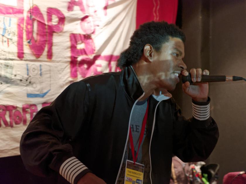 Samy el Gato Negro. Festival Hip Hop Art Of Poetry en Lavapiés, Madrid. Fotografía de Luis F. Roncero.