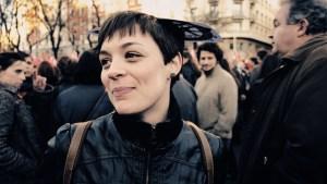 """Joven entrevistada en manifestación. """"Marchas de la Dignidad"""" en Madrid. Manifestación contra el paro, la precariedad y los recortes del Partido Popular"""