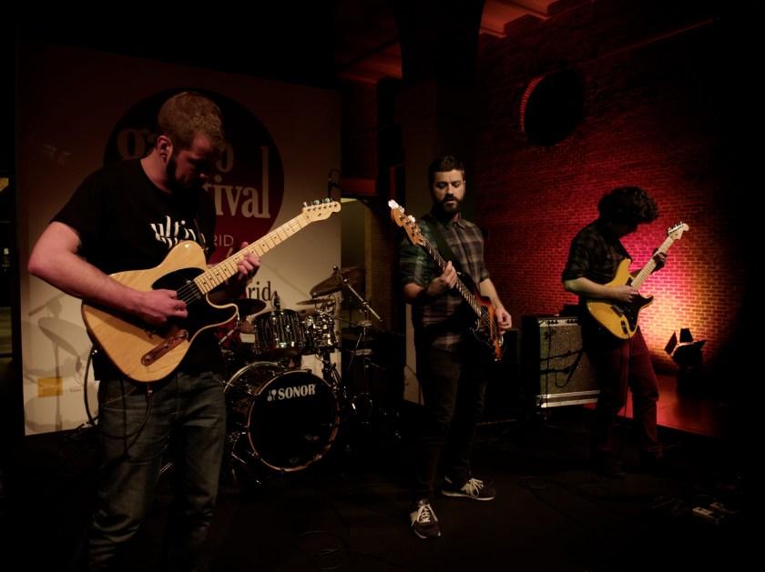 La banda sobre el escenario. Concierto de Jardín de la Croix en el Centro Conde Duque de Madrid durante el Gastrofestival 2016. Fotografía de Luis F. Roncero.