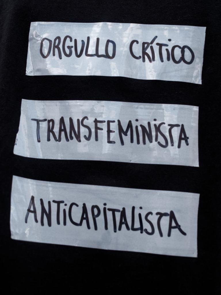 ORGULLO CRÍTICO TRANSFEMINISTA ANTICAPITALISTA. Manifestación del Orgullo Crítico en Madrid. Fotografía de Luis F. Roncero.