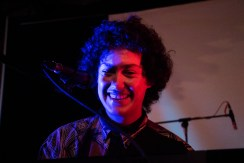 Hobo Johnson performing at Art Street in Sacramento, California on the night of Feb. 10. (Photo by Luis Gael Jimenez)