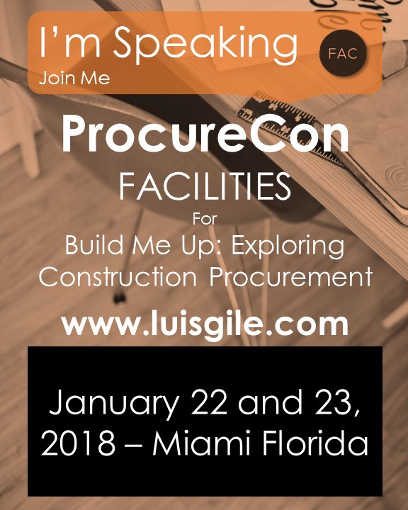 Luis Gile at ProcureCon Facilities 2018