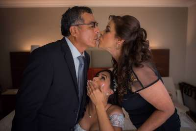 Parents of Bride Getting Ready by Luis Ibarra Wedding Photographer in Mexico
