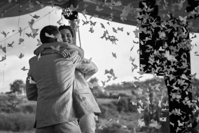Groom and Bride at Reception by Luis Ibarra Wedding Photographer in Mex