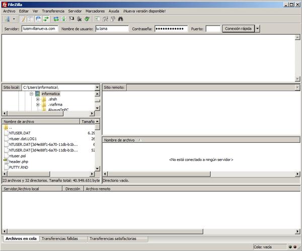 instalacion wodpress FTP