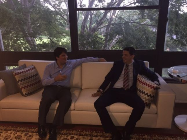 Luciano Genésio em encontro com André Fufuca em Brasília