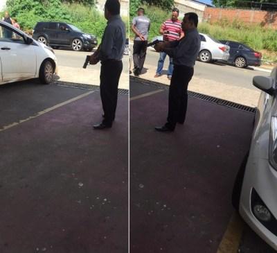 Polícia que prendeu os bandidos na porta do Papo de Boteco, em São Luís-MA