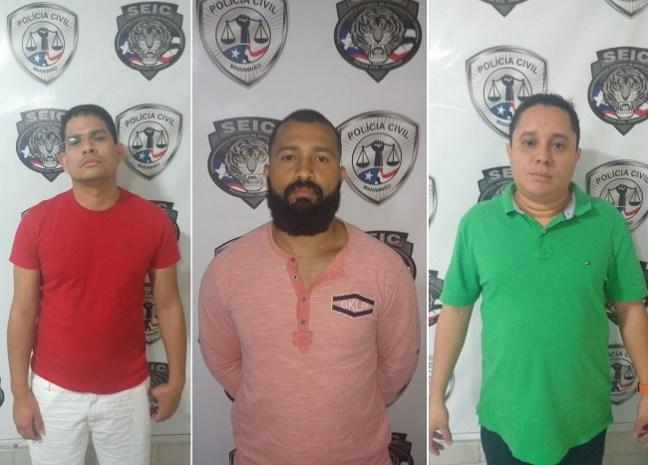 Leonel Silva, Anderson Sombra e Sérgio Farias