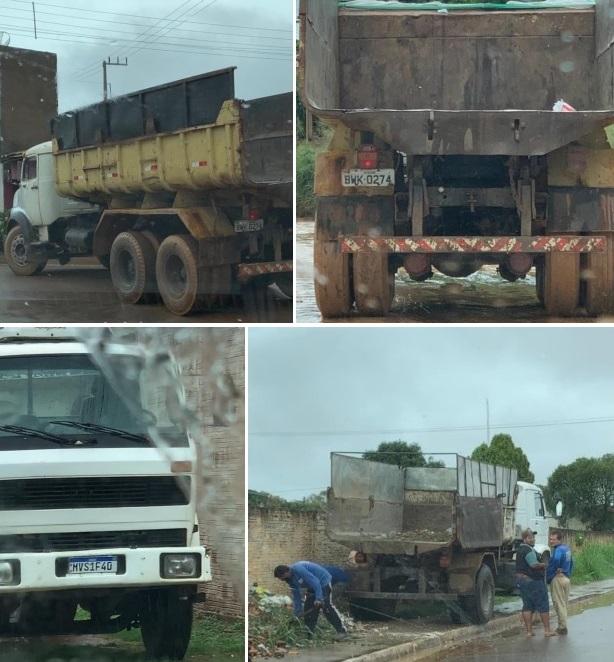 Veículos de transporte em situação precária