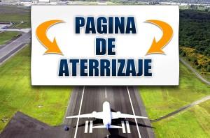 pagina de aterrizaje