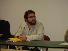 Eduardo Arcos (hipertextual man) en Granada (Foto de Luis Rull)