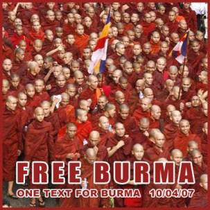 Free Burma. Libertad en Birmania