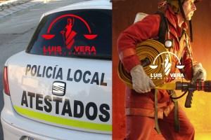Polica local y Bomberos