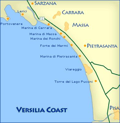 ヴェルシリア地方の地図