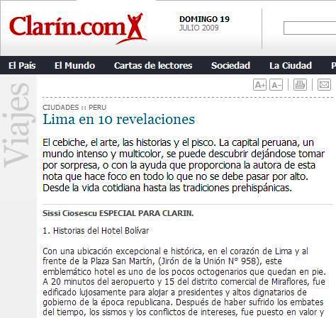 Lima en Clarin