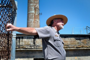 U.S. Park Ranger John Cantwell leads the Alcatraz tour about the June 1962 escape, on Thursday, May 2, 2013.