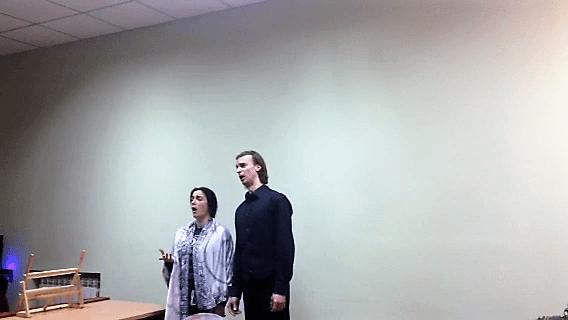Выступление Александра Олтянова и Златы Ясиновской-Олтяновой