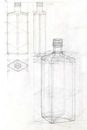 Flasche, Bleistift, 2014