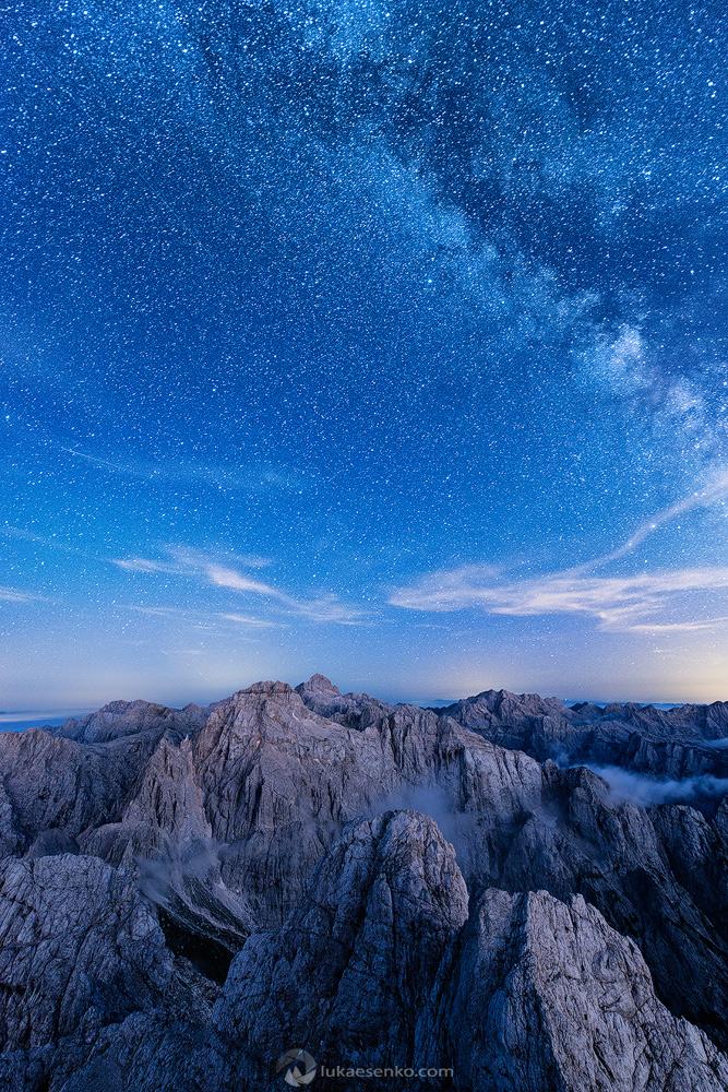 Starry night in Julian Alps