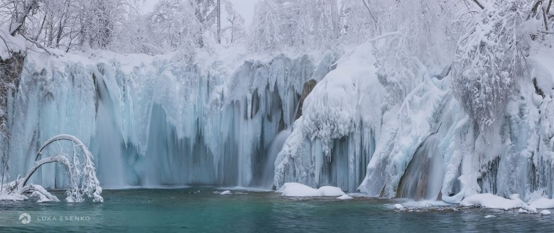 Frozen waterfalls, Plitvice Lakes NP