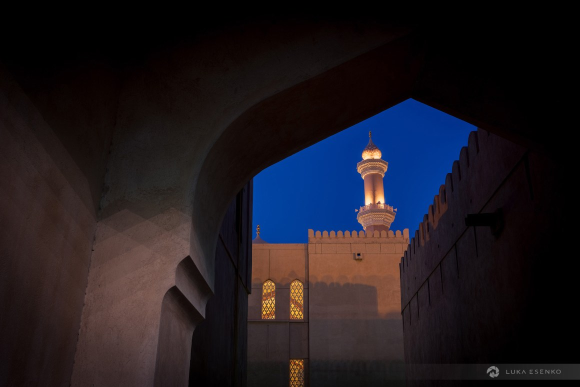 A night view of Nizwa mosque