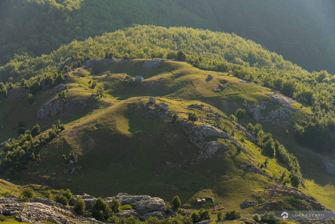 Mountain pastures on Albanian side of Accursed mountains