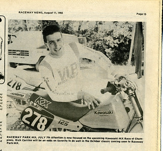 Rich Carrino Raceway News