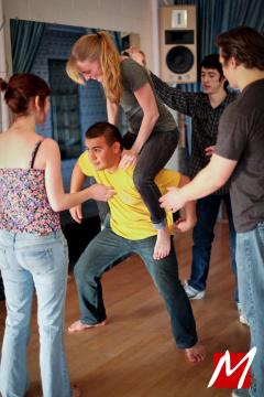 Luke Teaching Safe Basing at Atomic Blues Fusion 2012