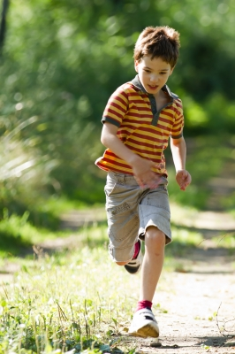 Boy Running in nature