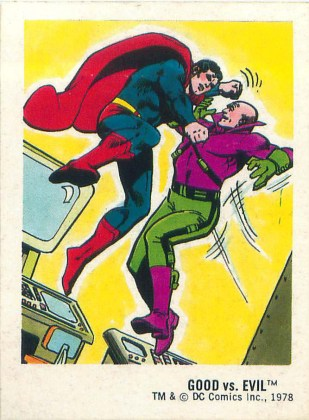 Superman fighting Lex Luthor