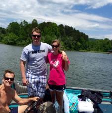 Dad Luke and I Guntersville Boat