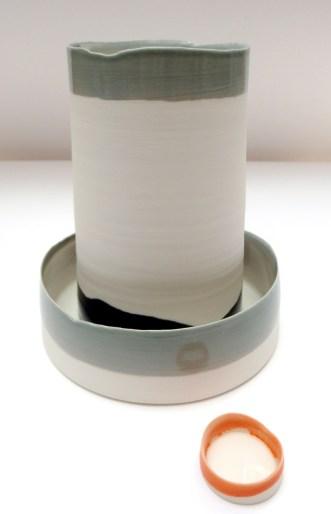 tall cylinder; porcelain