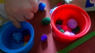 Pom pom activities for fine motor skills