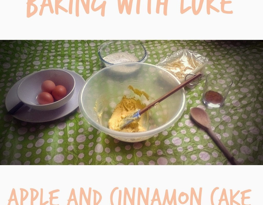 Toddler In The Kitchen: Apple & Cinnamon Cake from lukeosaurusandme.co.uk