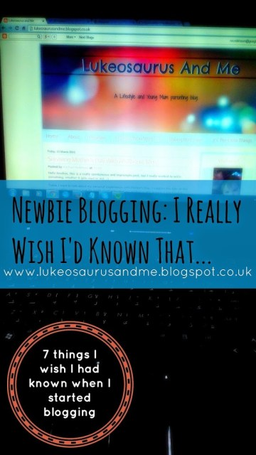 Blogging Tips - Things I wish I'd Known When I started blogging https://lukeosaurusandme.co.uk @gloryiscalling