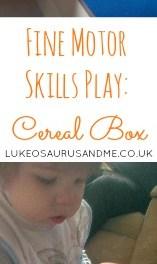 Fine Motor Skills Play – Cereal Box