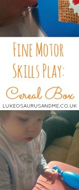 Fine Motor Skills Play – Cereal Box