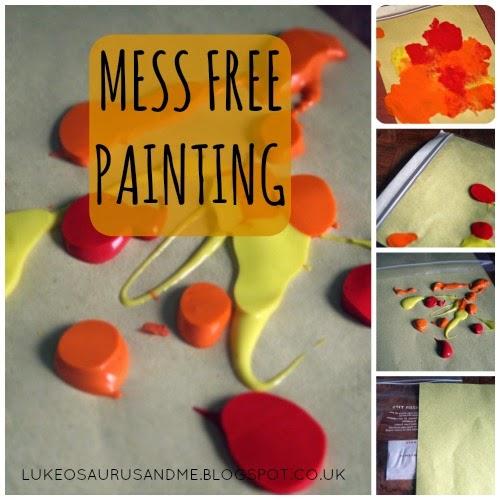 Mess Free Painting from lukeosaurusandme.co.uk